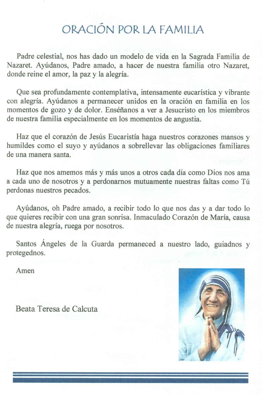 Gifs de oraciones: Oraciones a la Madre Teresa
